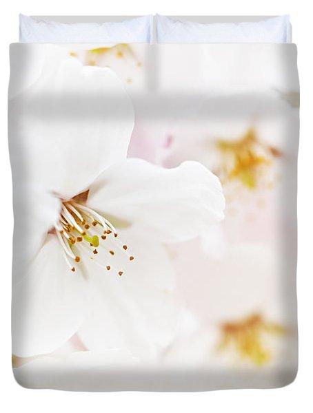 Apple blossoms Duvet Cover by Elena Elisseeva