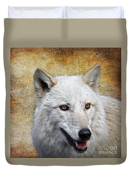 Arctic White Wolf  Duvet Cover by Steve McKinzie