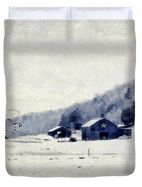 Back Roads Of Kentucky Duvet Cover by Darren Fisher