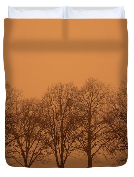 Beautiful Trees In The Fall Duvet Cover by Toppart Sweden