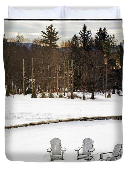 Berkshires Winter 3 - Massachusetts Duvet Cover by Madeline Ellis