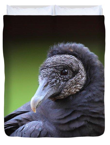Black Vulture Portrait Duvet Cover by Bruce J Robinson