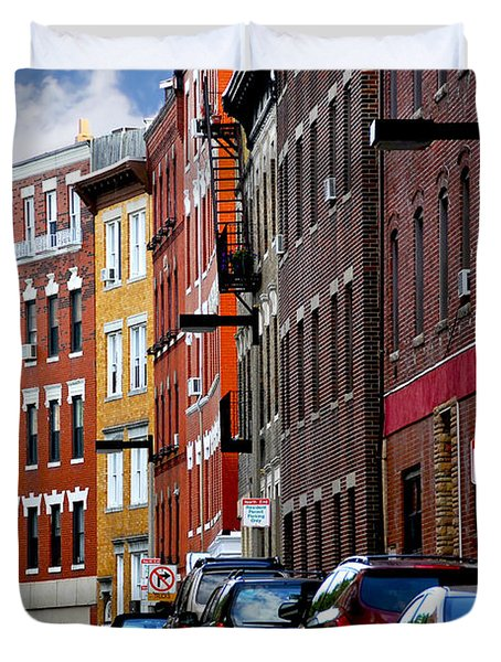Boston street Duvet Cover by Elena Elisseeva
