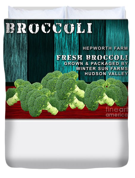 Broccoli Farm Duvet Cover by Marvin Blaine