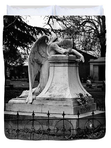 Broken Angel  Duvet Cover by Peter Piatt