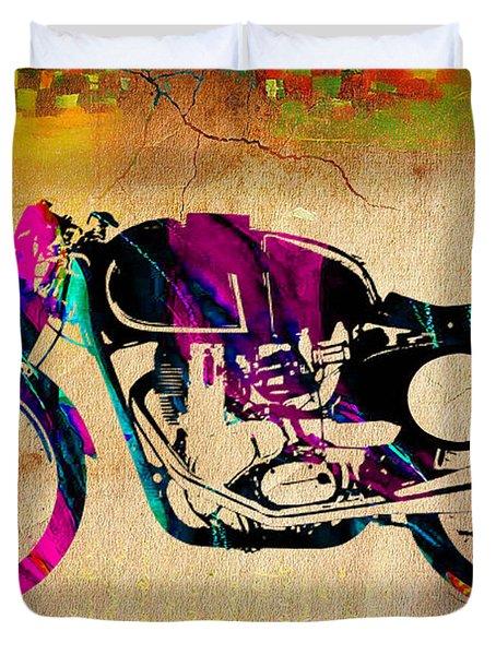 Cafe Racer Duvet Cover by Marvin Blaine