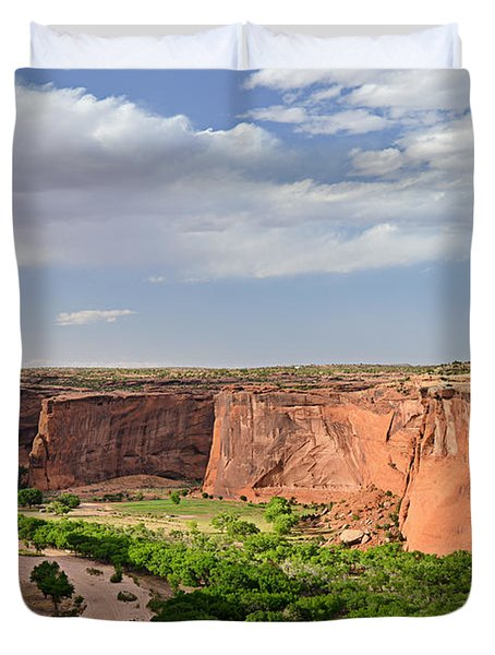 Canyon de Chelly from Sliding House Overlook Duvet Cover by Christine Till