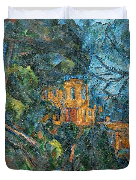 Chateau Noir Duvet Cover by Paul Cezanne