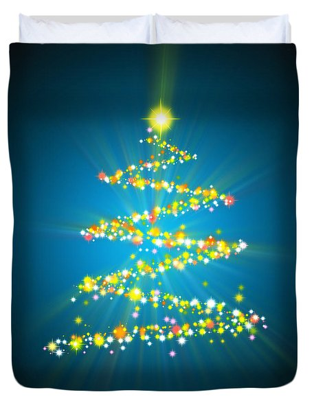 Christmas Tree Duvet Cover by Atiketta Sangasaeng