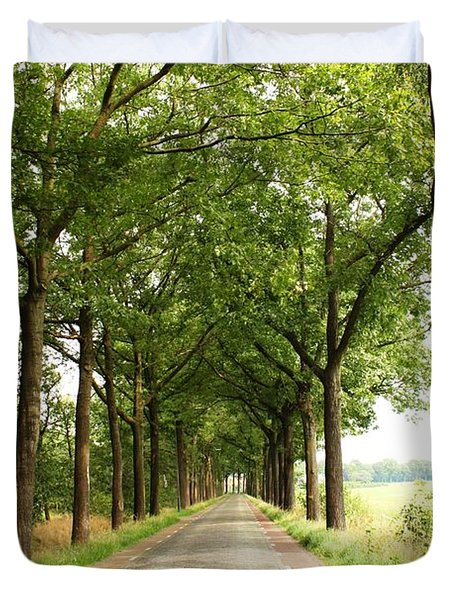 Cobblestone Country Road Duvet Cover by Carol Groenen