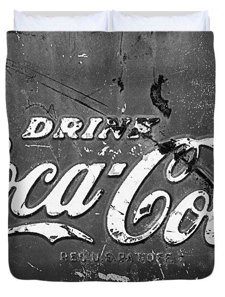 Coca-cola Sign Duvet Cover by Jill Reger