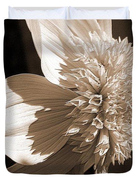 Dahlia Named Platinum Blonde Duvet Cover by J McCombie
