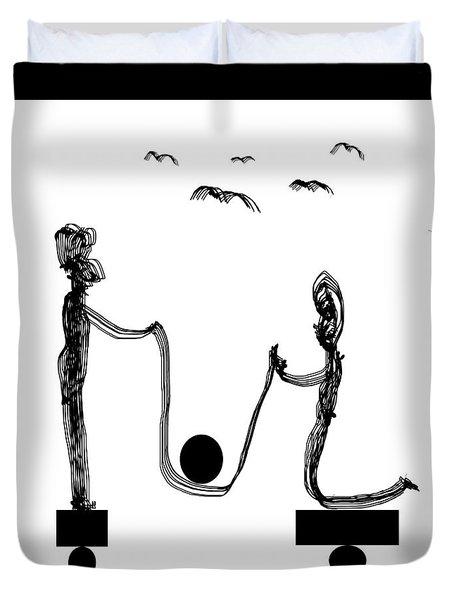Desequilibre Duvet Cover by Sir Josef  Putsche Social Critic
