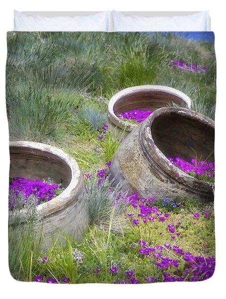 Desert Flowers Duvet Cover by Joan Carroll