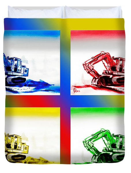 Dozer Mania II Duvet Cover by Kip DeVore