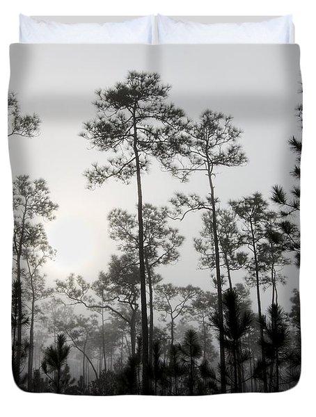 Early Morning Fog Landscape Duvet Cover by Rudy Umans