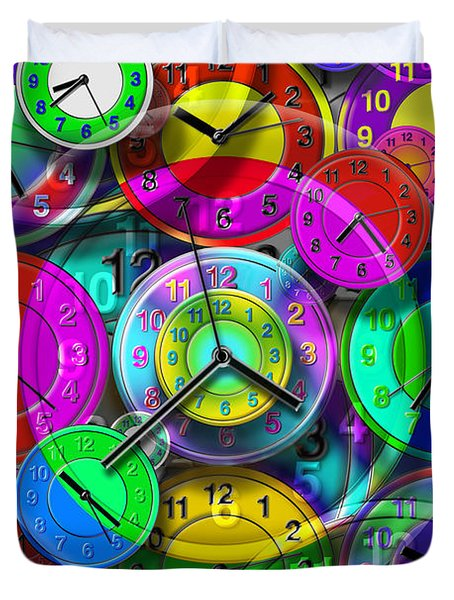 Faces Of Time 1 Duvet Cover by Mike McGlothlen