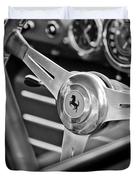 Ferrari Steering Wheel Duvet Cover by Jill Reger