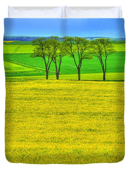 Fields Of Dreams Duvet Cover by Midori Chan