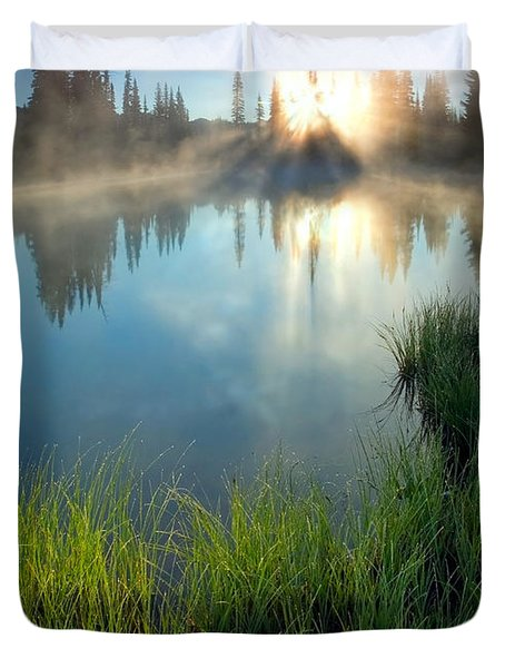 First Light Duvet Cover by Mike  Dawson