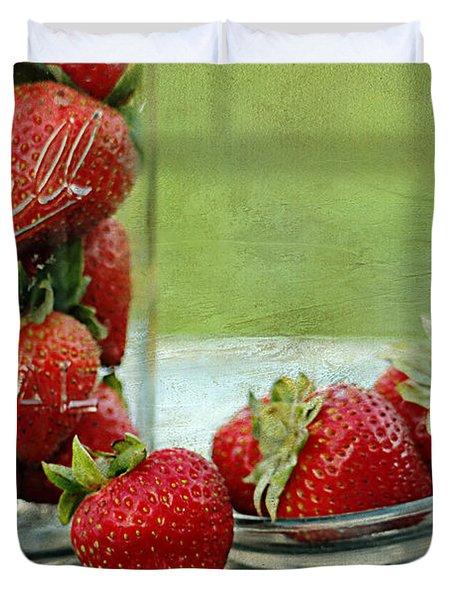 Fresh Berries Duvet Cover by Darren Fisher