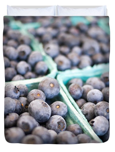 Fresh Blueberries Duvet Cover by Edward Fielding