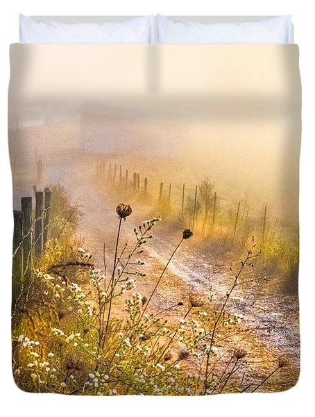 Good Morning Farm Duvet Cover by Debra and Dave Vanderlaan