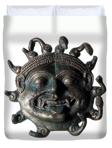 Gorgon Legendary Creature Duvet Cover by Photo Researchers