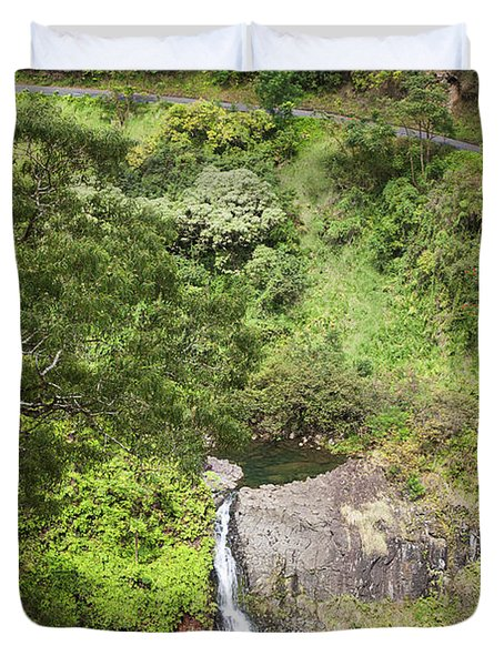 Hana Waterfall Duvet Cover by Jenna Szerlag