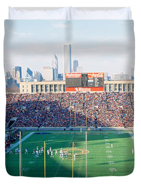 High Angle View Of Spectators Duvet Cover by Panoramic Images