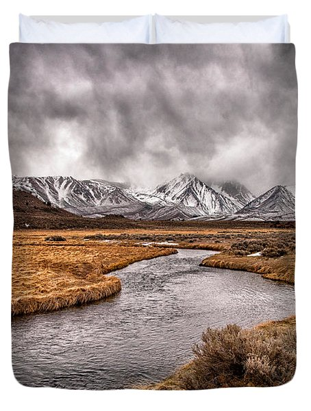 Hot Creek Duvet Cover by Cat Connor
