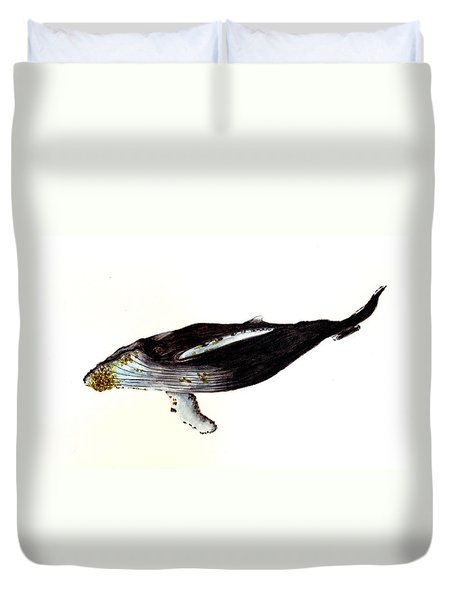 Humpback Whale Duvet Cover by Michael Vigliotti