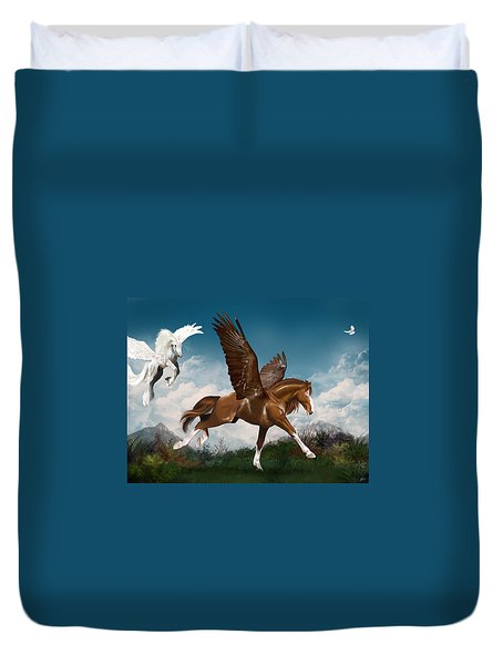 In A Hurry Duvet Cover by Kate Black