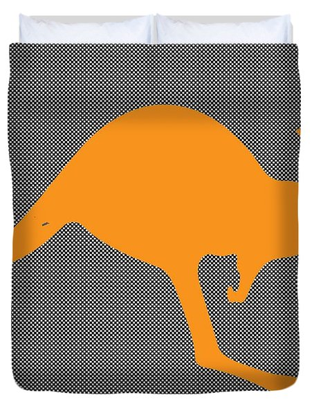 Kangaroo Duvet Cover by Manik
