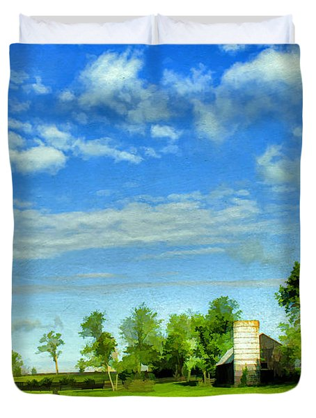 Kentucky Countryside Duvet Cover by Darren Fisher