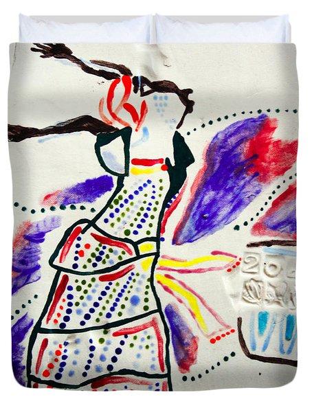Kiganda Dance - Uganda Duvet Cover by Gloria Ssali
