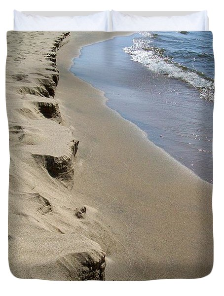 Lake Michigan Shoreline Duvet Cover by Michelle Calkins