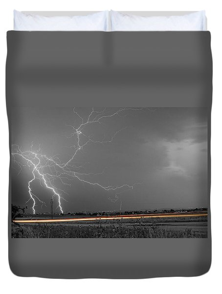 Lightning Thunderstorm Dragon Duvet Cover by James BO  Insogna