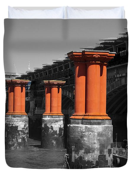 London Thames Bridges Duvet Cover by David French