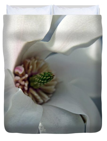 Magnolia In Watercolor Duvet Cover by Carolyn Stagger Cokley