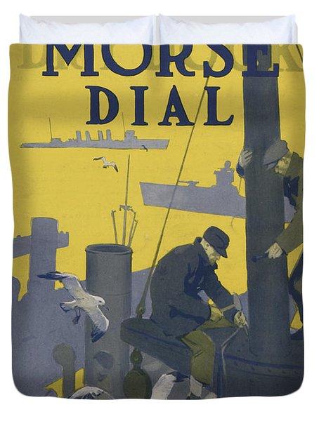 Morse Dry Dock Dial Duvet Cover by Edward Hopper