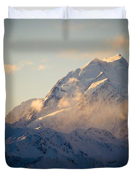 Mount Cook New Zeland Duvet Cover by Tim Hester