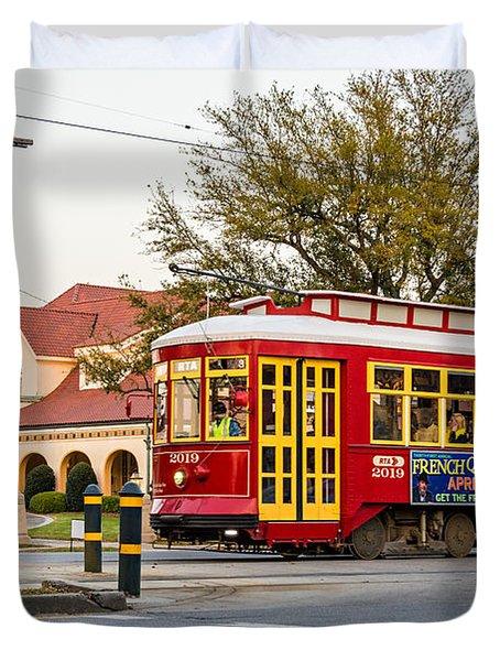 New Orleans Streetcar Duvet Cover by Steve Harrington