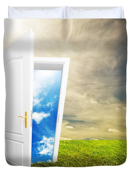 Open Door To New Life Duvet Cover by Michal Bednarek
