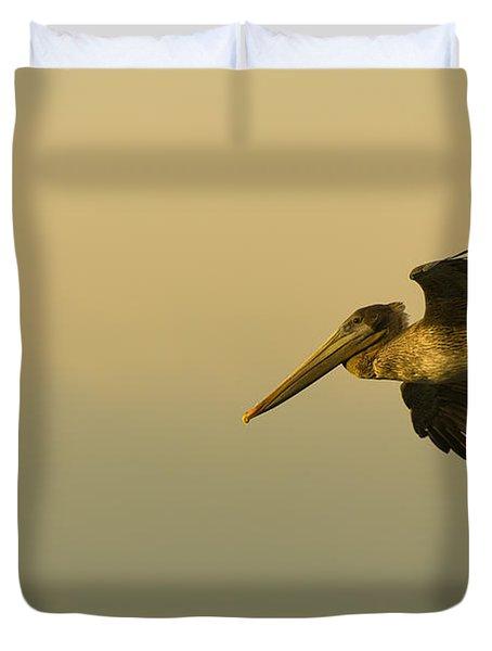 Pelican Duvet Cover by Sebastian Musial
