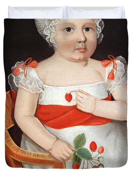 Phillips' The Strawberry Girl Duvet Cover by Cora Wandel