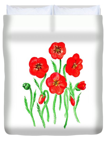 Poppies Duvet Cover by Irina Sztukowski