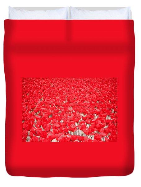 Poppy Meadow ... Duvet Cover by Juergen Weiss
