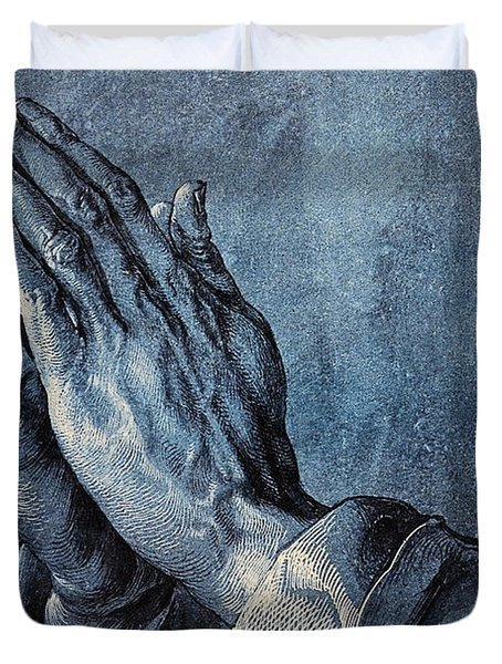 Praying Hands Duvet Cover by Albrecht Durer