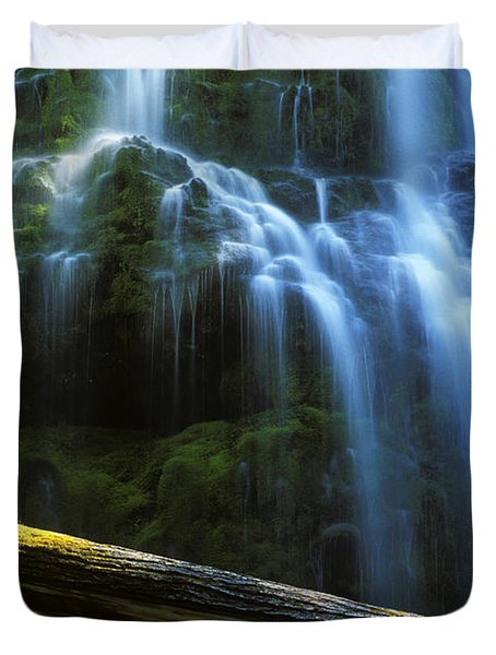Proxy Falls Oregon Duvet Cover by Bob Christopher
